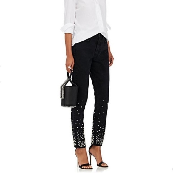 Grlfrnd Jeans Black Moonstone Studded Jeans 29